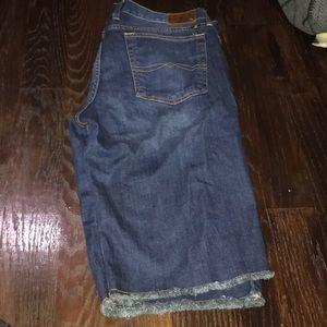 Lucky brand abbey Bermuda blue jean shorts size 14